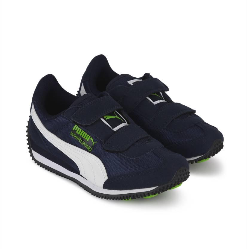 Puma Boys & Girls Velcro Running Shoes