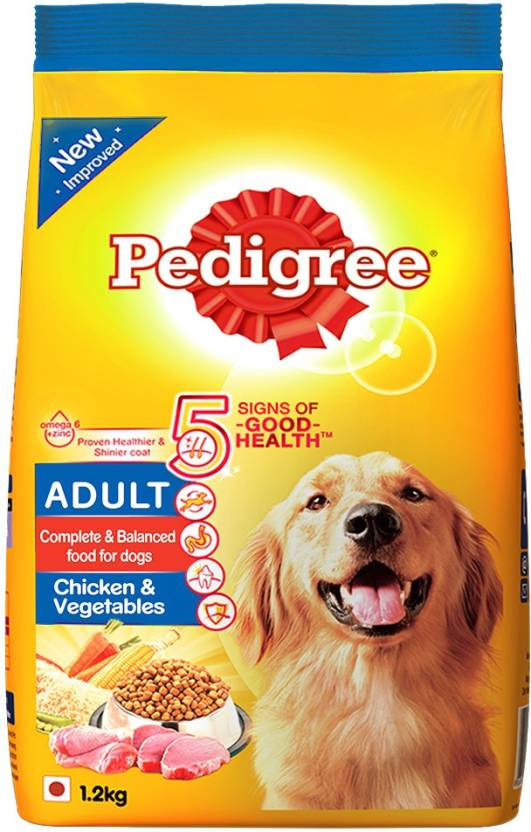 Pedigree Adult Chicken Vegetable 12 Kg Dry Dog Food Price In India