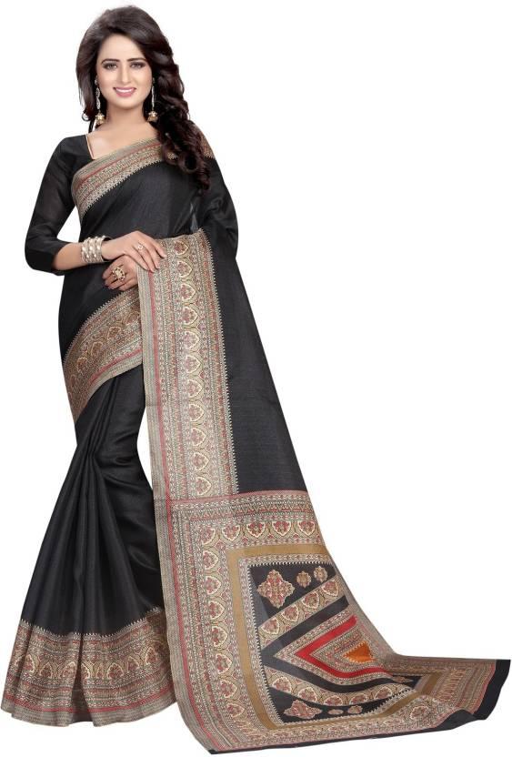 8a367a9ef199b5 Buy Active Printed Kalamkari Khadi Black Sarees Online   Best Price ...