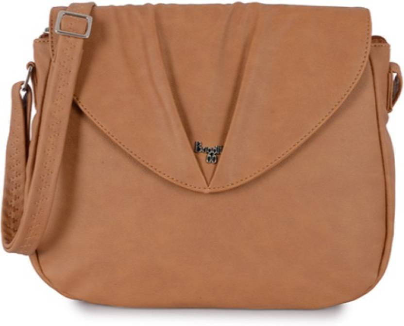 6e47f0b92862 Baggit Women Casual Tan PU Sling Bag Mustard - Price in India | Flipkart.com