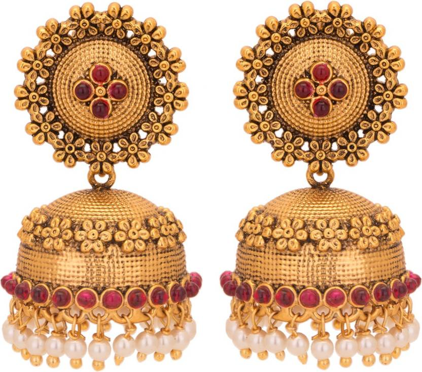 b3a220ec18eca Adwitiya Collection Bright, Princes, Rose, Delight Copper Jhumki Earring