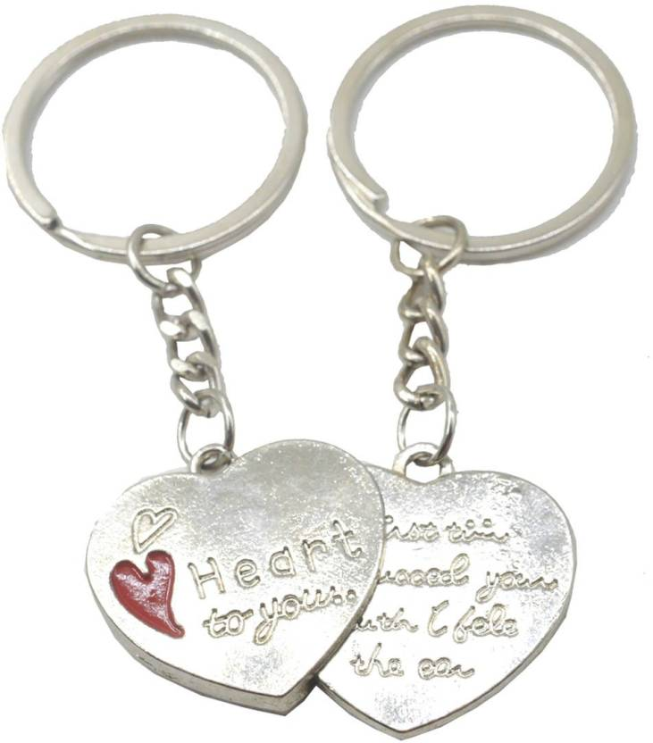 577052ddaf Faynci Two PC Heart for You msg Couple Key Chain for Gifting Valentine  Day/Birthday/Friendship Day Key Chain Price in India - Buy Faynci Two PC  Heart for ...