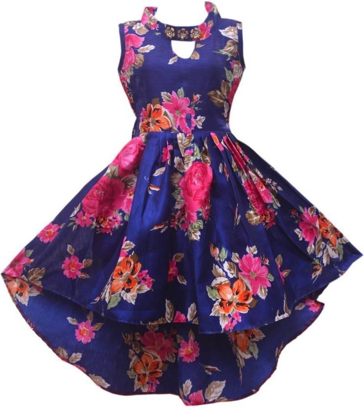 padmashri international Girls Midi/Knee Length Party Dress Price in ...