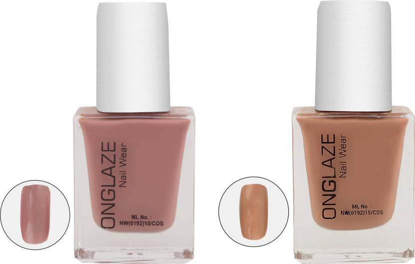 Onglaze Creame Gel The Nud Way Combo Of 2 Nail Paint Black