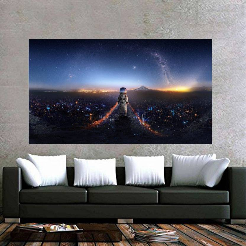 Astronaut Wall Decor Poster No Framed Large Painting On
