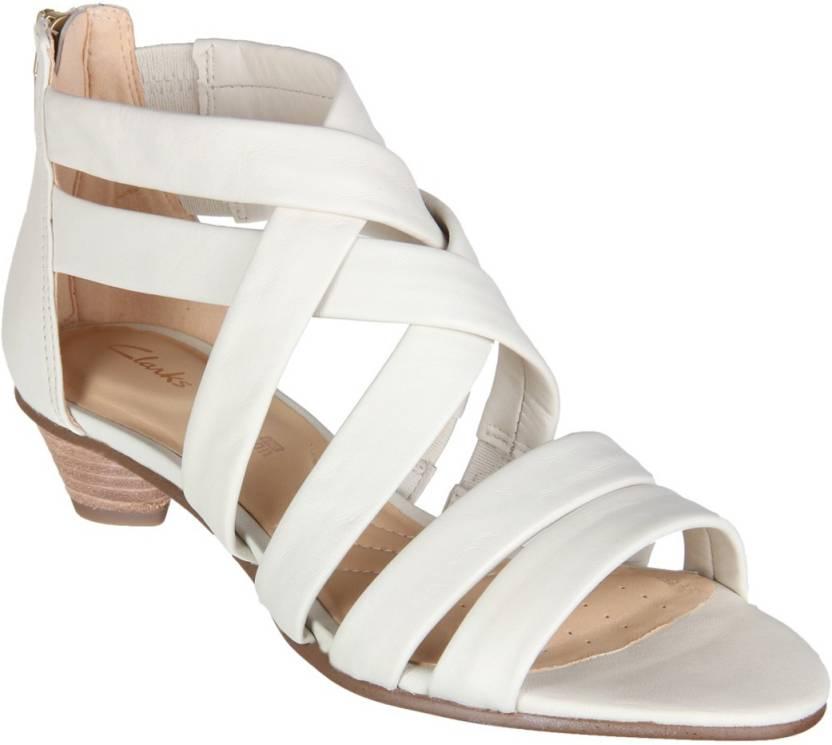 fb02c306a8b Clarks Women White Heels - Buy Clarks Women White Heels Online at Best  Price - Shop Online for Footwears in India
