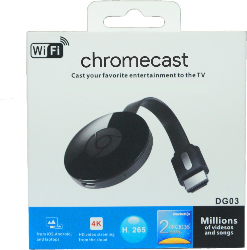 Chromecast 2 media streaming device black