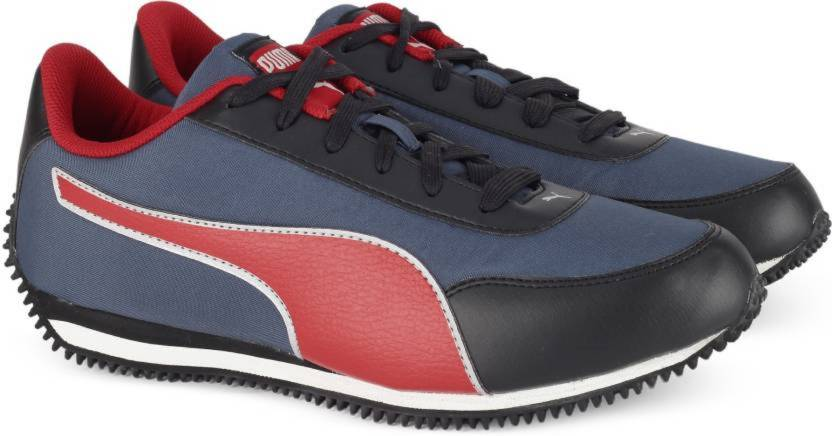 the latest 87099 03d4f Puma Blue/Red Suede Leather Running & Gym Sport Shoes Training & Gym Shoes  For Men