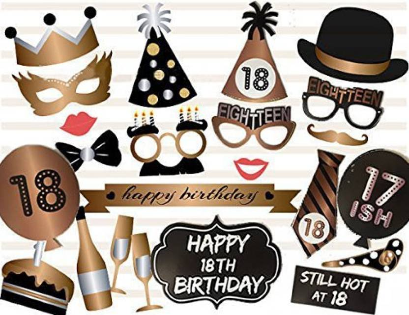 Veewon 18Th Birthday Photo Booth Props Party Favor Kit