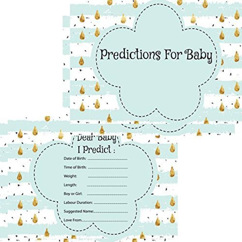 Rustic Robin Baby Shower Prediction Cards 16 Guests Keepsake Game