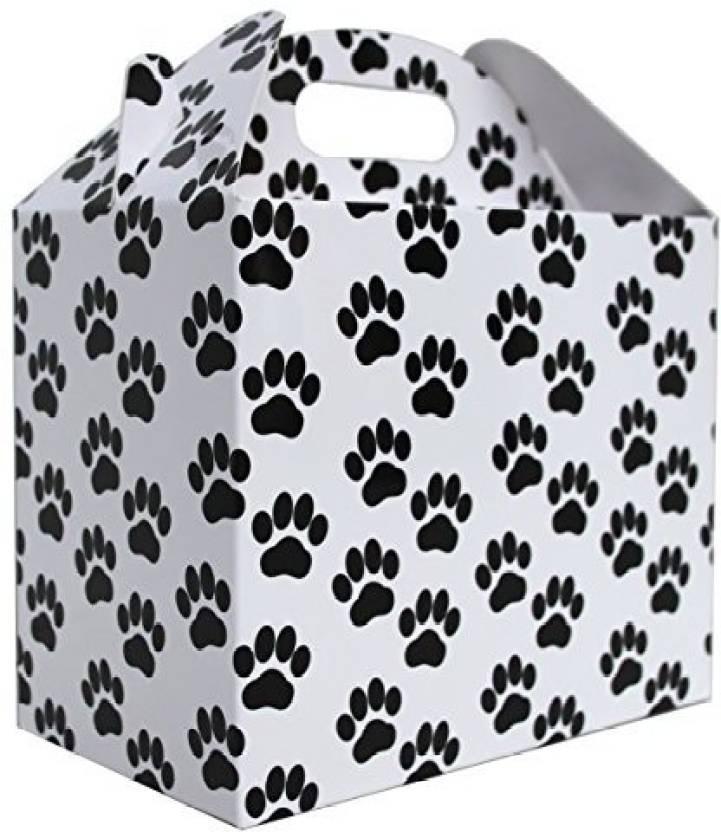 Jaffa Imports 10 X Dog Cat Paw Print Gable Box - White