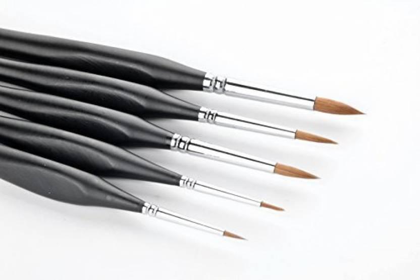 Ncfdbl 5 Pcs Best Professional Sable Detail Paint Brush