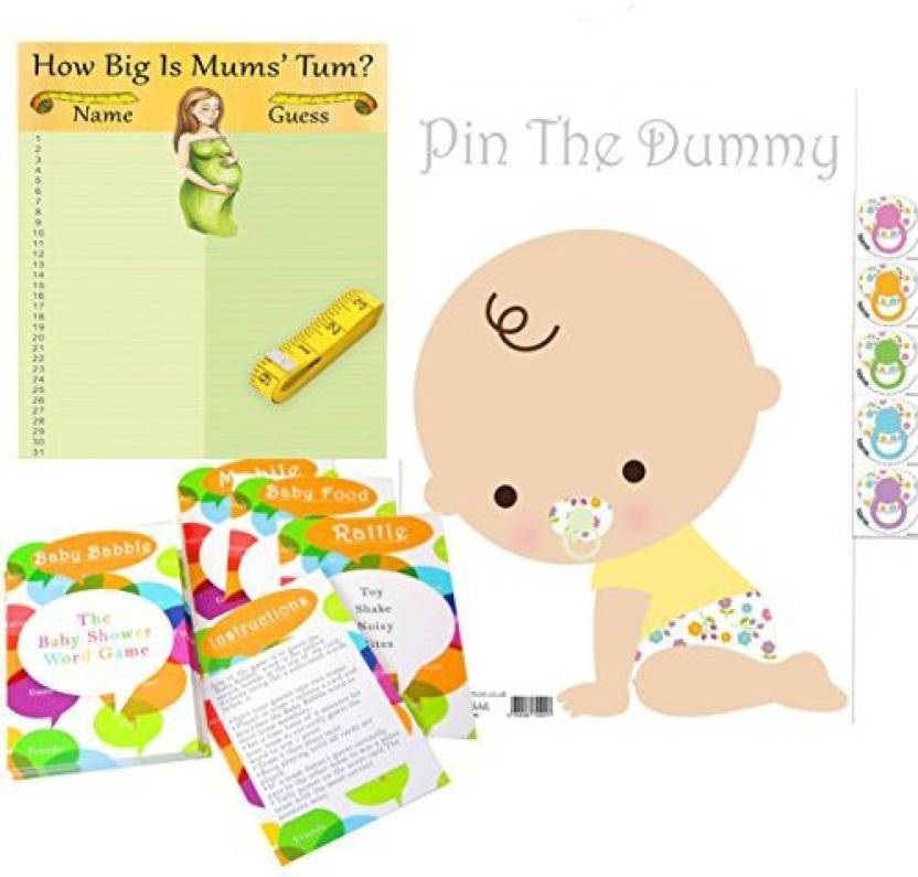 06534554f Rustic Robin Baby Shower Games Pack For Up To 35 Players   Includes ...