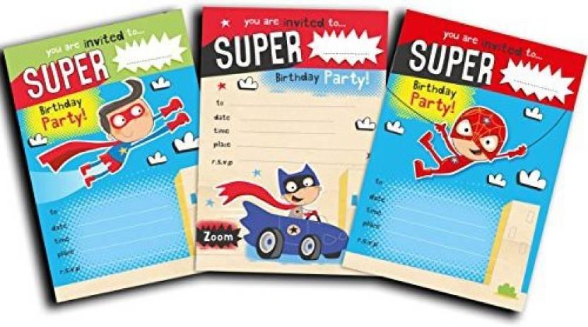 Paper Gekko Superhero Invites