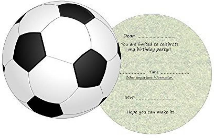 Generic The Lazy Panda Card Company 11 Round Football Invites For