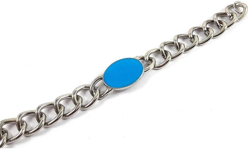 M Mod Con Alloy Silver Bracelet Price In India Buy M Mod Con Alloy