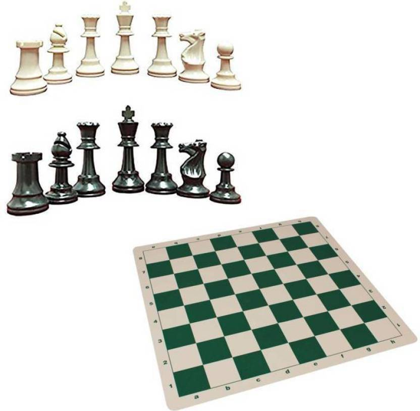 N VCOMMUNICATION24X7 BEST QUALITY FOLDING CHESS MAT WITH COINS 18 inch  Chess Board
