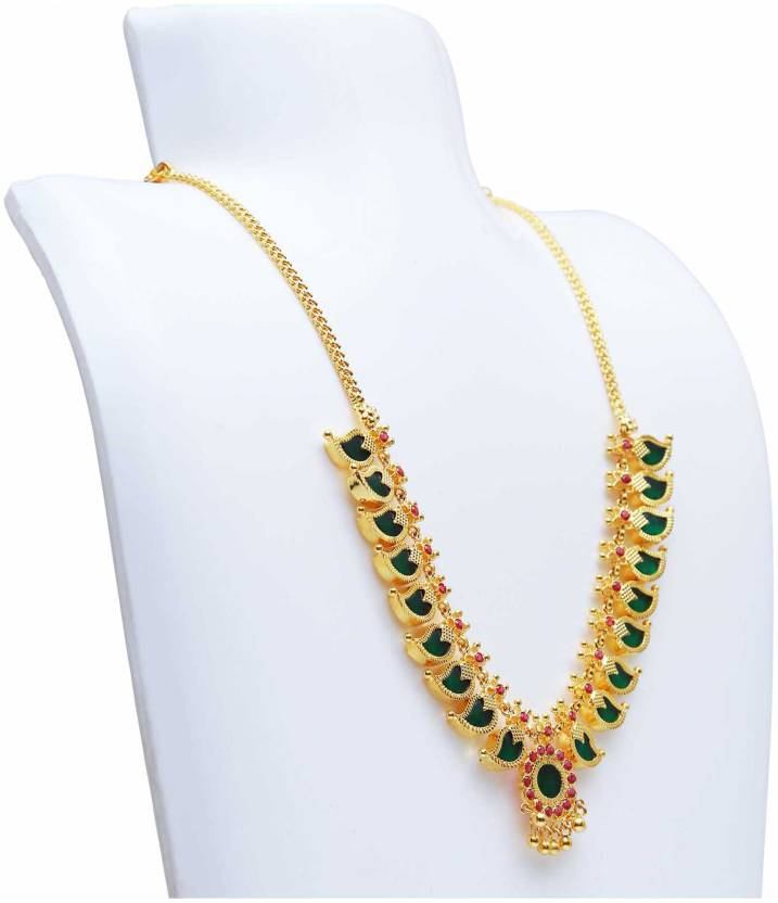 30f9cd6e3cbf7b KOLLAM SUPREME Traditional Mango Necklace Gold-plated Plated Alloy Necklace  Price in India - Buy KOLLAM SUPREME Traditional Mango Necklace Gold-plated  ...
