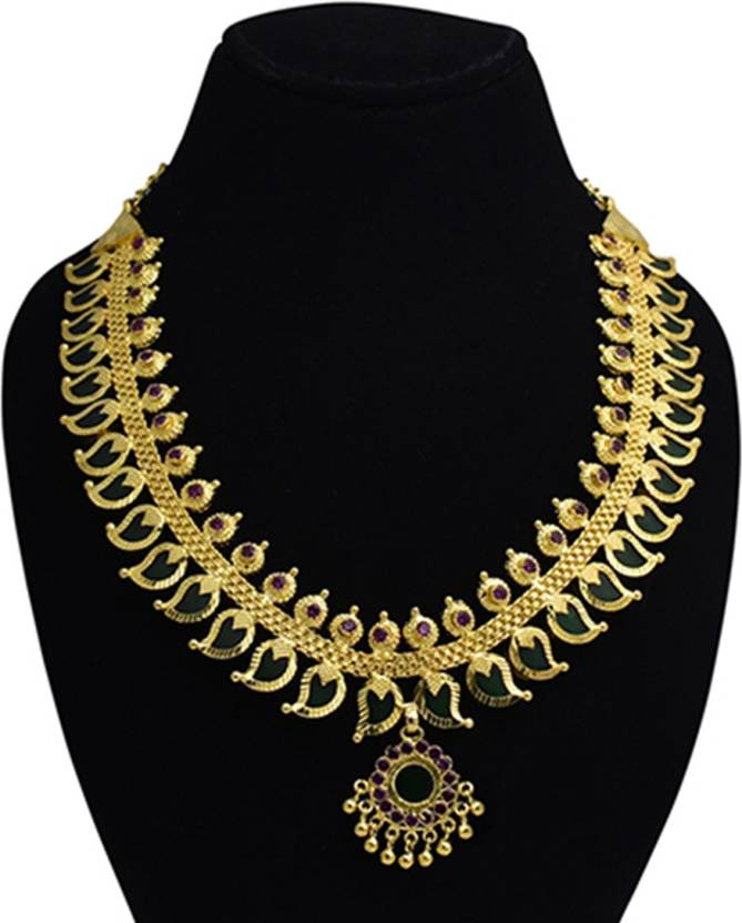 cf44a7c3949752 KOLLAM SUPREME Kerala Traditional Mango Choker Necklace Gold-plated Plated  Alloy Necklace Price in India - Buy KOLLAM SUPREME Kerala Traditional Mango  ...