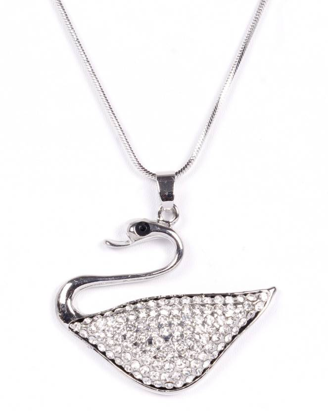 e8152fa2c Indian Petals Designer Style Diamond Rhinestone Swarovski studded Duck Design  Fashion Jewellery Pendant with long Chain ...