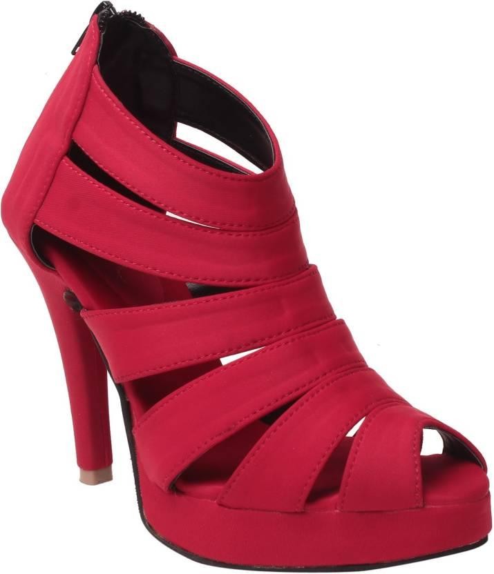 e8c3d25892 MSC Women Red Heels - Buy Red Color MSC Women Red Heels Online at Best Price  - Shop Online for Footwears in India | Flipkart.com