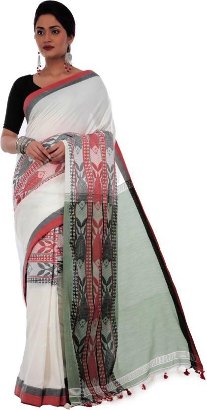 e514e48e4d ... Hand Painted, Striped, Printed, Digital Prints, Embellished, Plain,  Animal Print, Self Design Kanjivaram Handloom Cotton, Khadi Saree  (Multicolor)