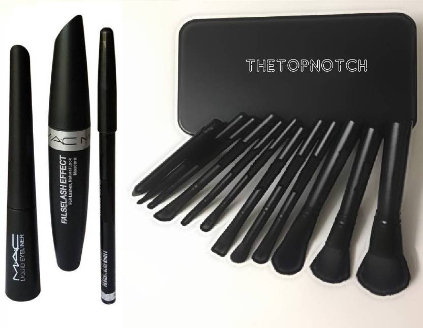 Thetopnotch 12 Peice Makeup Brush Set Mac Liquid Eye Liner Mac