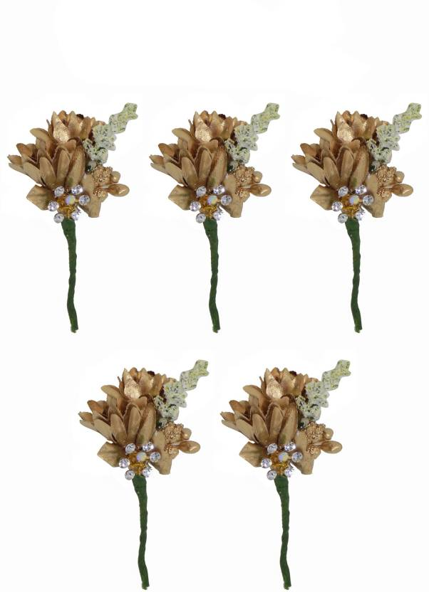 Majik Artificial Flower Hair Juda Pins Hair Accessories For Girls