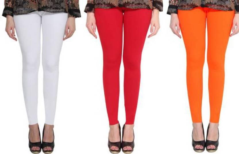 3749cbe84aeef WOMEN'S COTTON LEGGINGS (PACK-3) Legging Price in India - Buy ...
