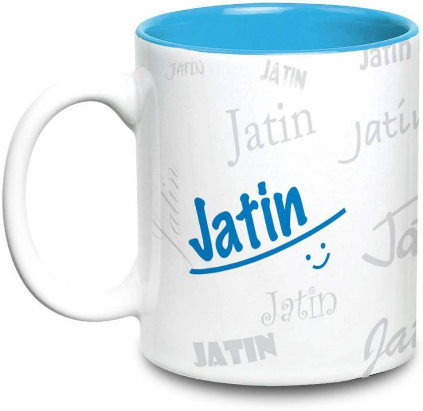 Do Yaar Jatin Name Gift Ceramic Inside Blue Gifts For