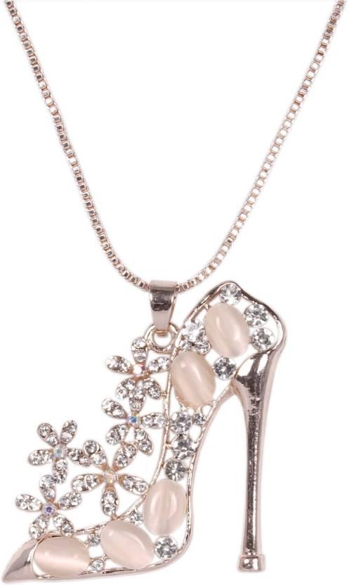 75be475ca Indian Petals Designer Fancy Stylish Swarovski-like Diamonds Rhinestone  studded Ladies Sandal Heel Design Fashion Jewellery ...