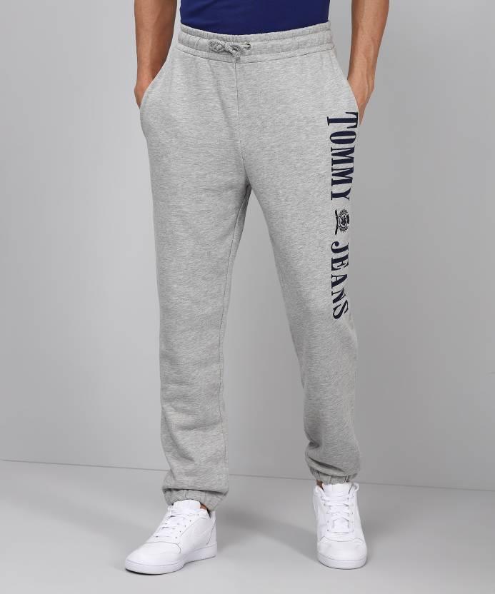 e74ea50422 Tommy Hilfiger Solid Men's Grey Track Pants - Buy Grey Tommy ...