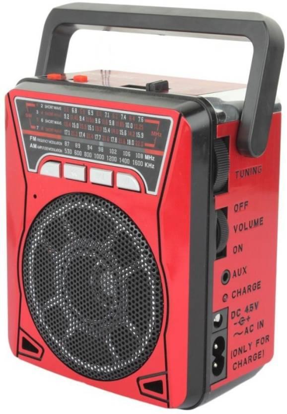 OYD latest high digital sound FM/AM/SW 10 band radio support aux in, usb  ,memory card, torch at side FM Radio