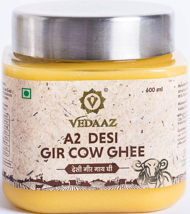 Vedaaz A2 Desi Gir Cow Hand churned Ghee 600 ml