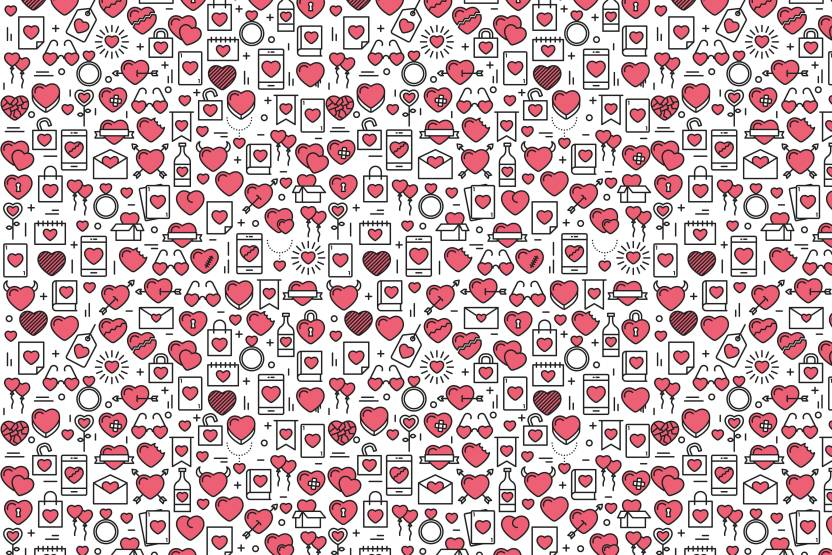 100yellow Valentine Day Gift Wrapping Paper Set Of 10 Unique