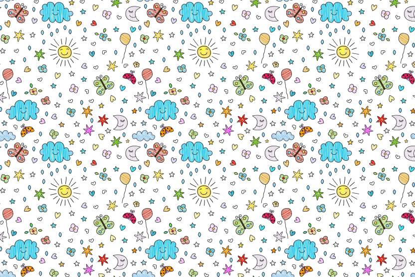 100yellow Doodles Gift Wrapping Paper Set Of 10 Unique Designer For Gifts 12x18 Inches