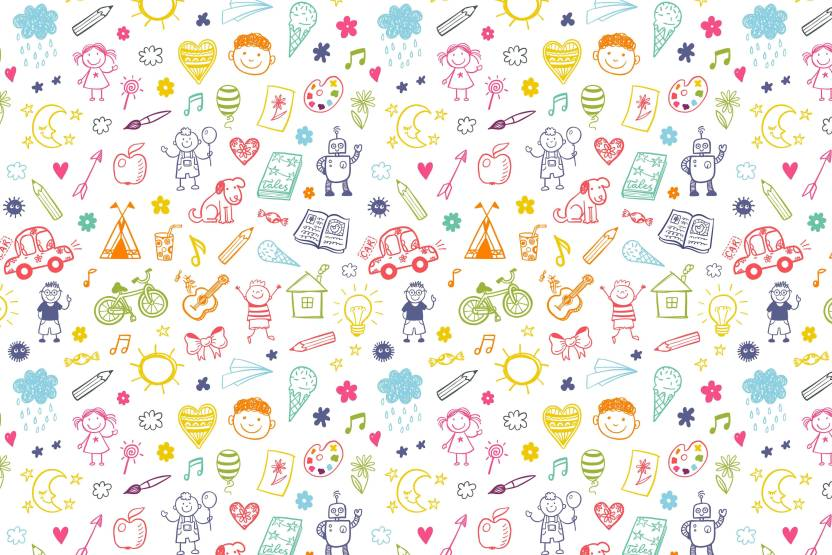 100yellow Colourful Doodles Gift Wrapping Paper Set Of 10 Unique Designer For Gifts 12x18