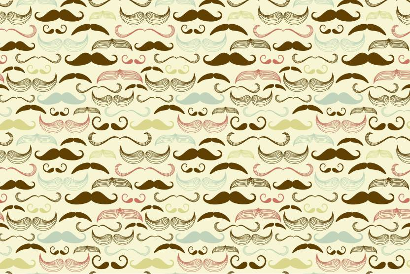 100yellow Moustaches Gift Wrapping Paper Set Of 10 Unique Designer For Gifts 12x18 Inches