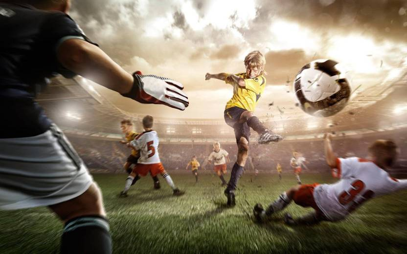 Cool Soccer Sports Vinyl Poster Paper Print (24 inch X 36 inch, Rolled)