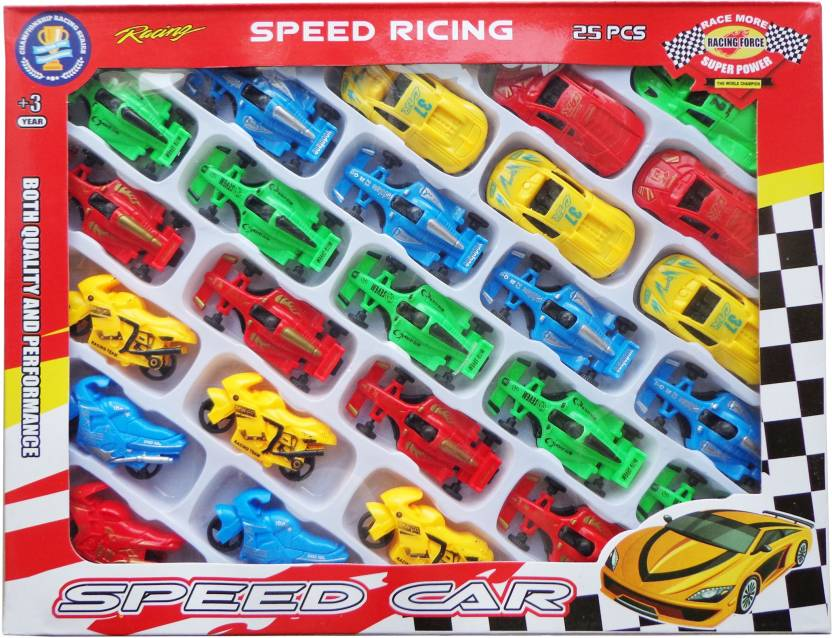 Kit4curious 25 Pcs Multicolor Car And Bike Set For Kids Small Sports