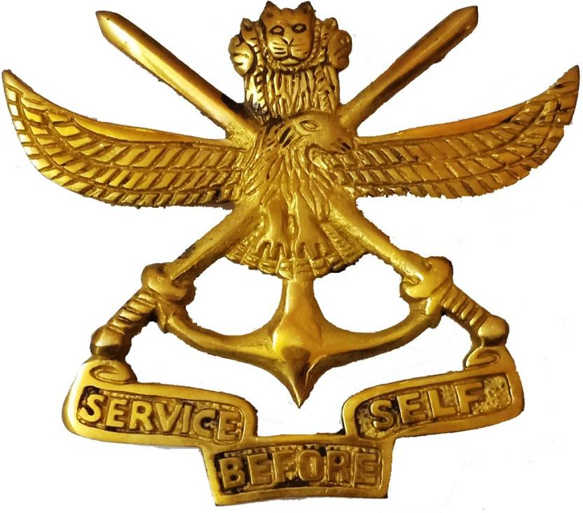 Star Shine Double Sword Golden Eagle Service Before Self Royal Enfield Emblem Price In India