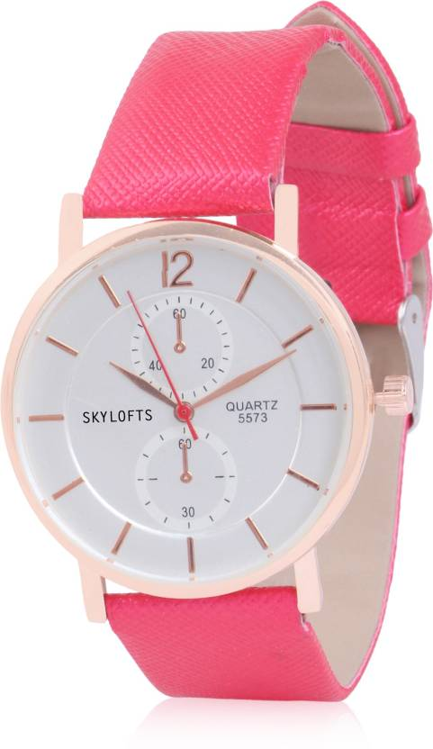09c1e7b0fb1 Skylofts Analog Baby Pink Dial with Stylish Strap Girl s Watches Watch -  For Girls - Buy Skylofts Analog Baby Pink Dial with Stylish Strap Girl s  Watches ...