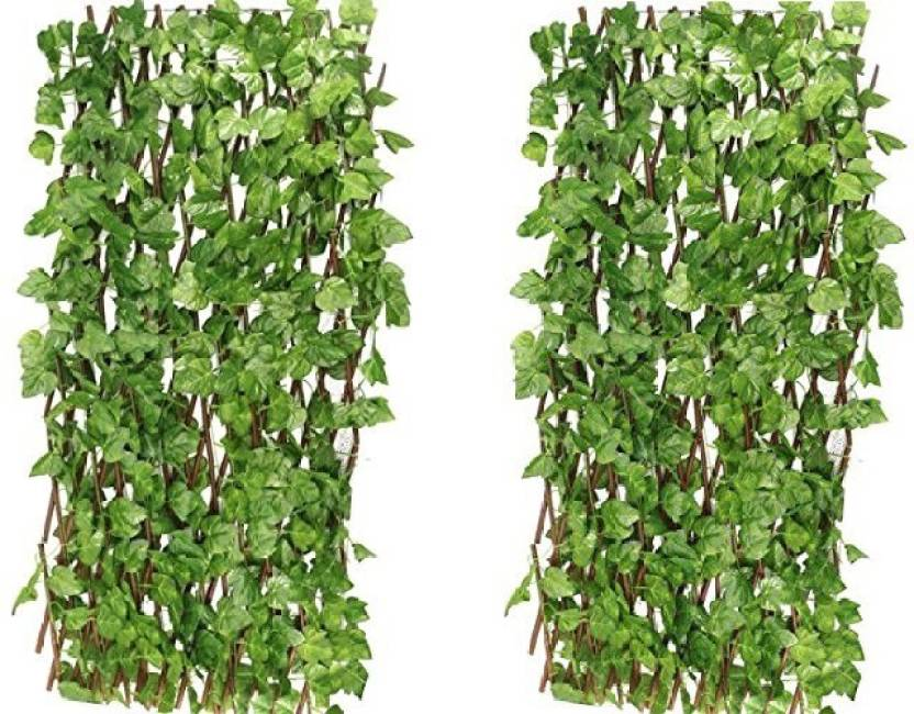 f47f776022b6 kaykon Big Expandable Grass Fence Artificial Hedge Green Leaves Garden  Decor Balcony Decor Wall Decor Home
