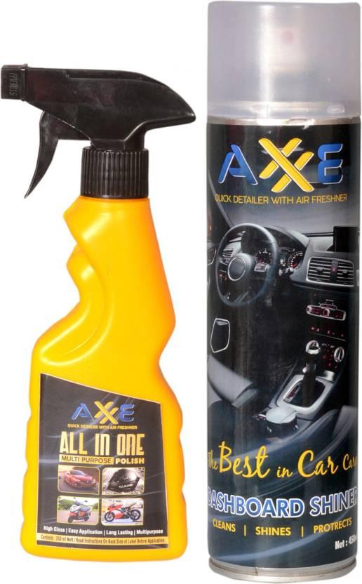 AXXE Liquid Car Polish for Leather, Tyres, Dashboard, Metal