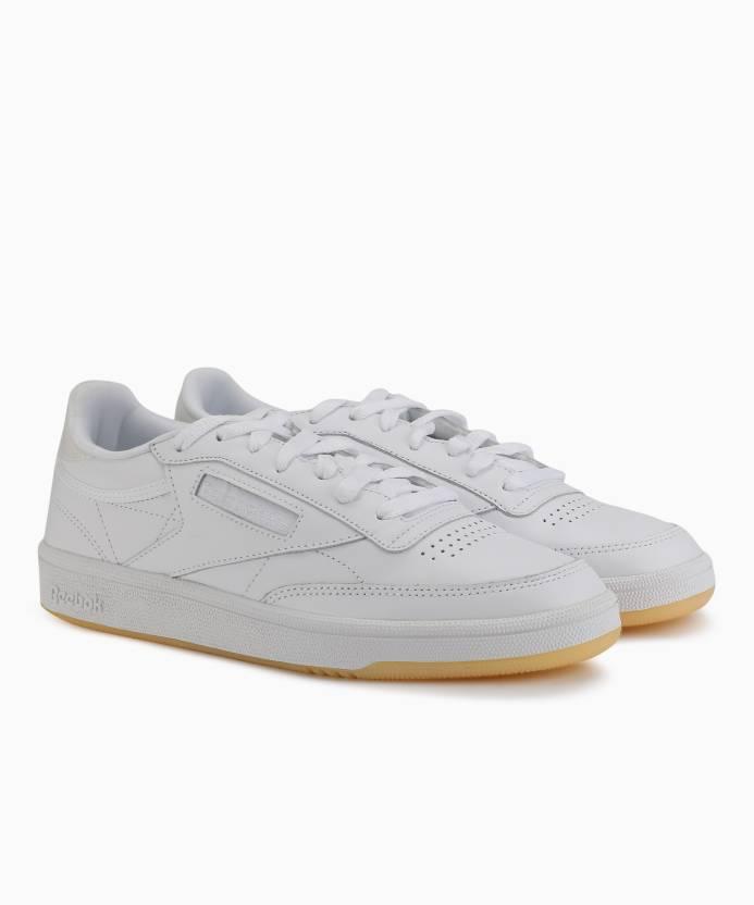 7977fd4416fc REEBOK CLUB C 85 LTHR Tennis Shoes For Women - Buy WHITE WHITE ICE ...