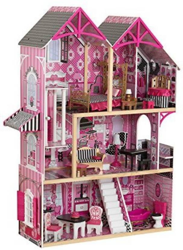 Kidkraft 65944 Bella Dollhouse A Modern Wooden Dolls House Standing