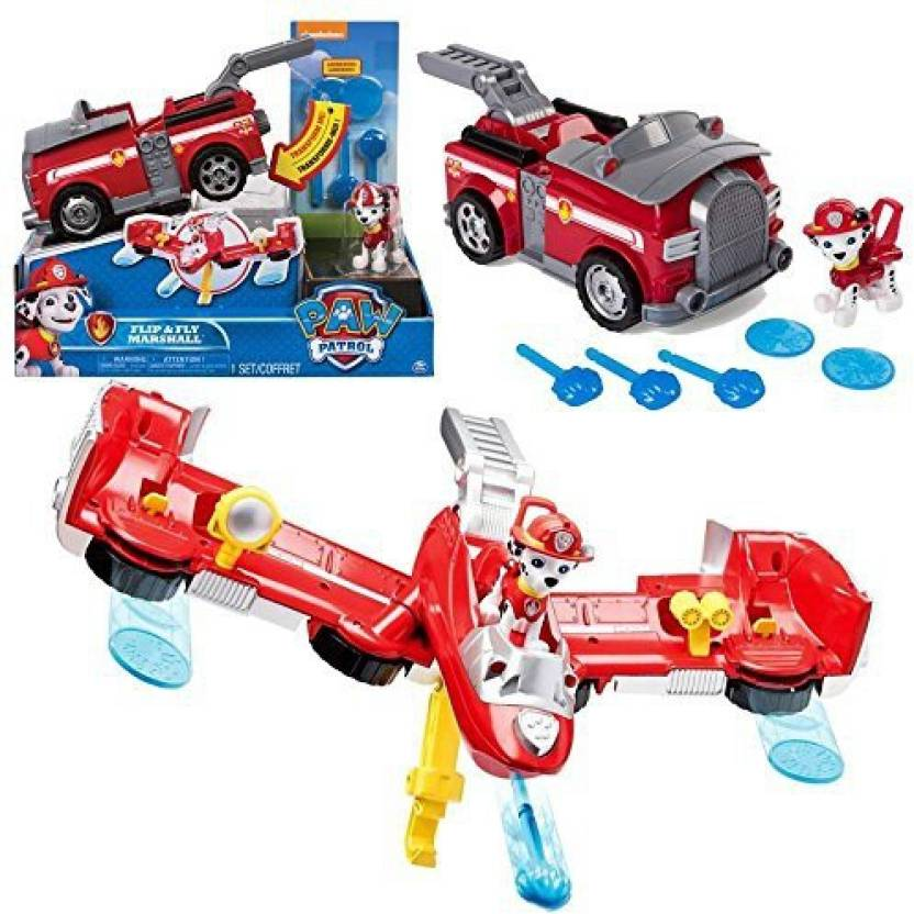 Spin Master Paw Patrol - Selection Flip & Fly Deluxe Vehicles with