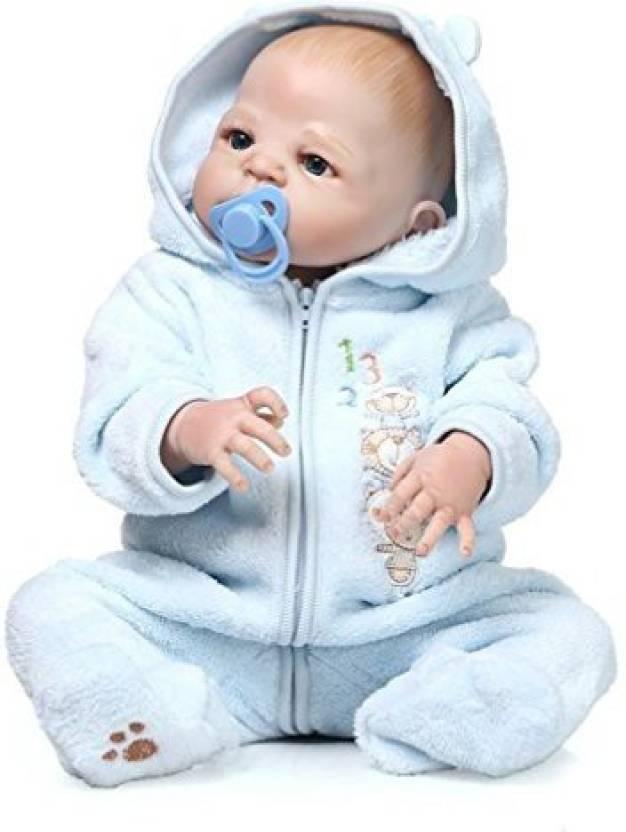 1f174da2cdc Generic NPK Full Body Silicone Reborn Baby Doll Toys 20Inch 50Cm Newborn  Bebe Boy Lifelike Toddler Dolls with Magnetic Pacifier (Multicolor)