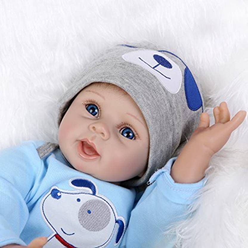 bbd44dbedef6 Generic NPK 2018 New Handmade Soft Vinyl Newborn Silicone Dolls Real  Looking Lifelike Reborn Baby Doll Free Magnet Pacifier Dummy Uk Stock  (Multicolor)
