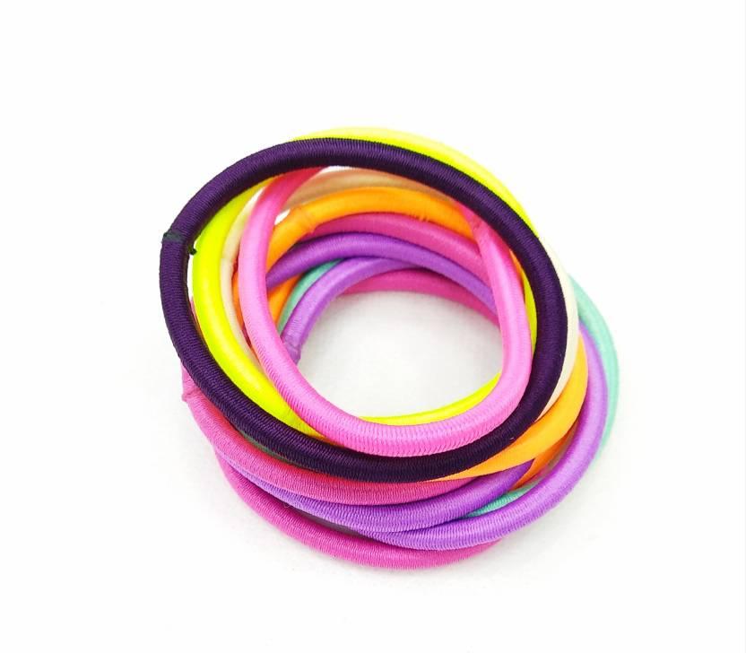fairytale High Quality Ponytail Holder Hair Rubber Bands Neon Multi  Colour.Set Of 10 pcs Rubber Band (Multicolor) d36989d5d72